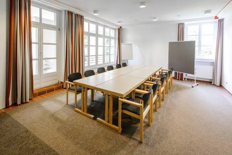 Seminarraum Quadrum in Haus Ohrbeck für Klausurtagung, Meeting, Rollout, Workshop im Gebiet Osnabrück, Emsland Oldenburg